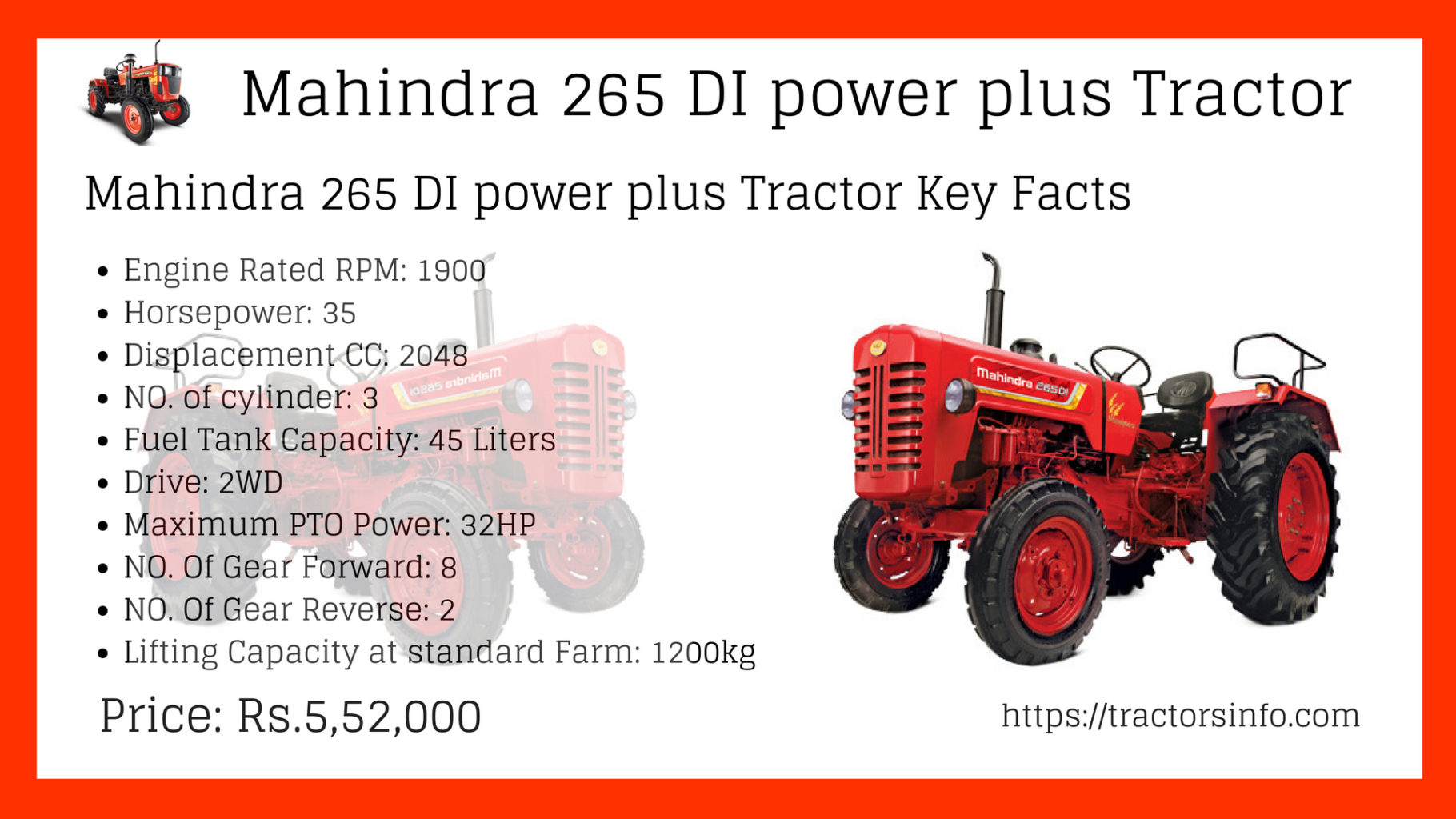 Mahindra 265 DI Power Plus tractor (2)