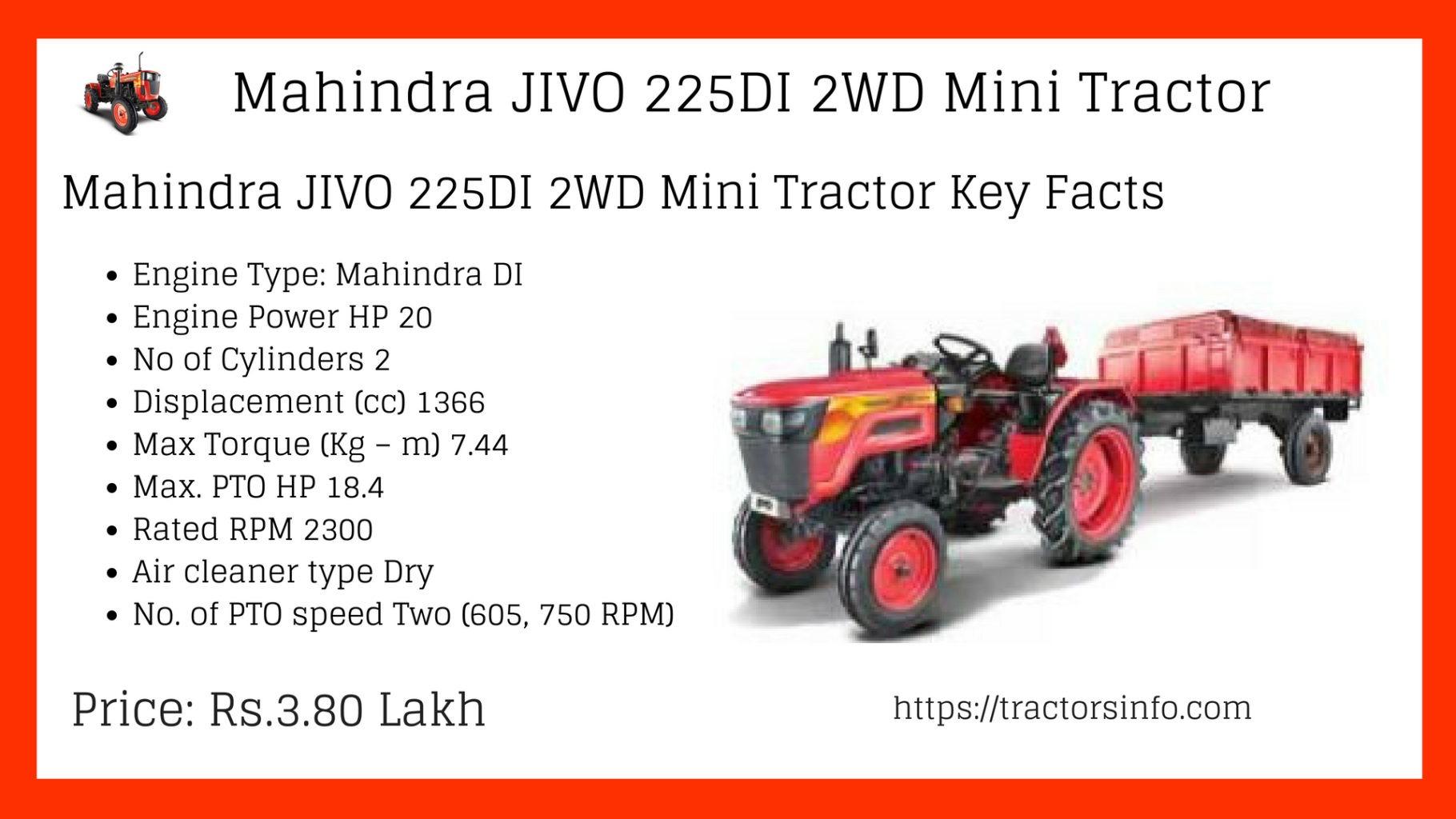 Mahindra JIVO 225DI Mini Tractor