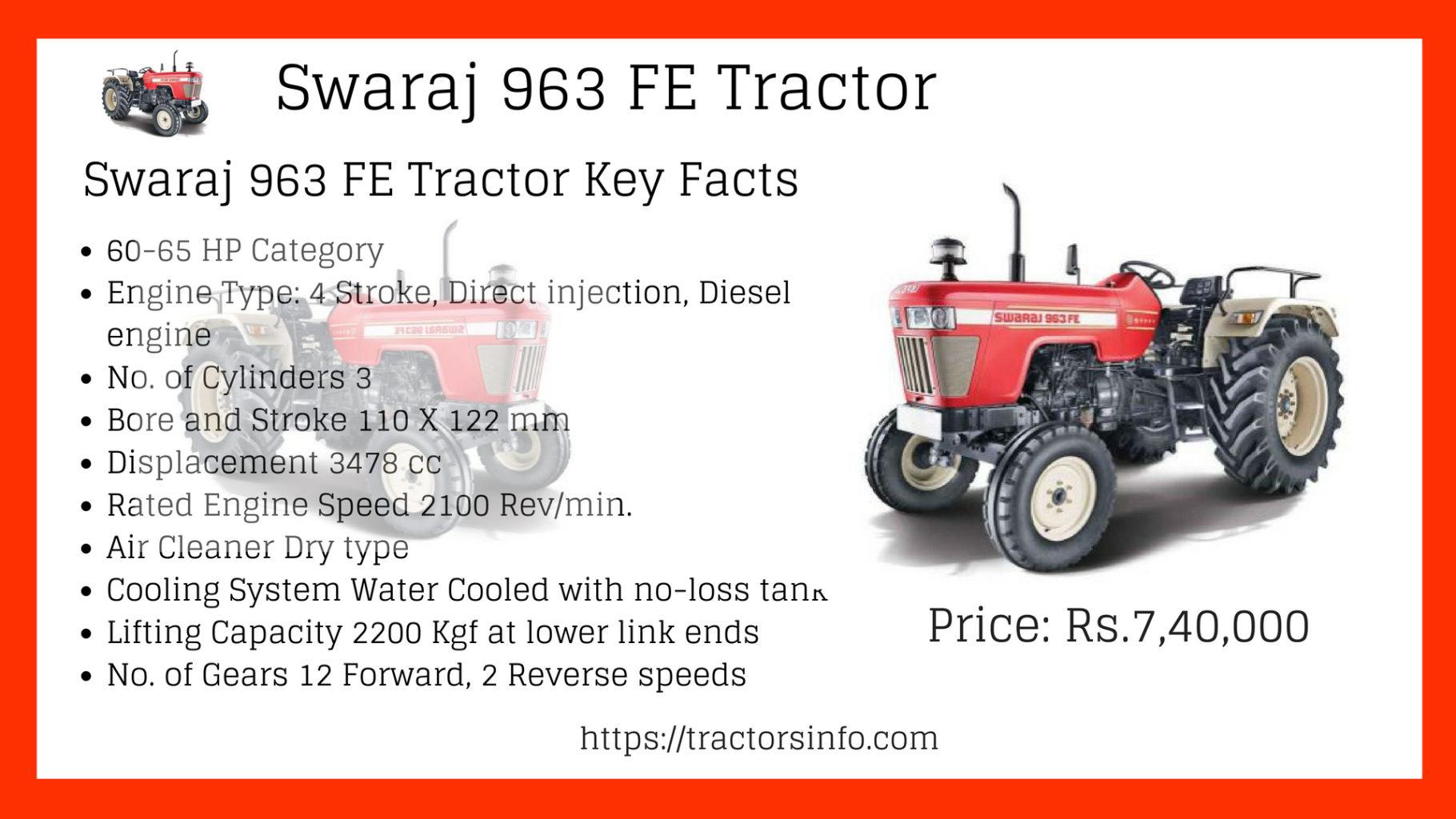 Swaraj 963 FE Tractor