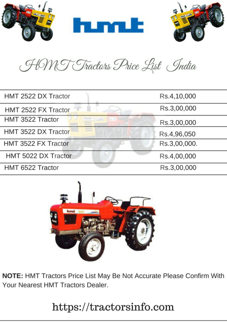HMT Tractors Price List (2)