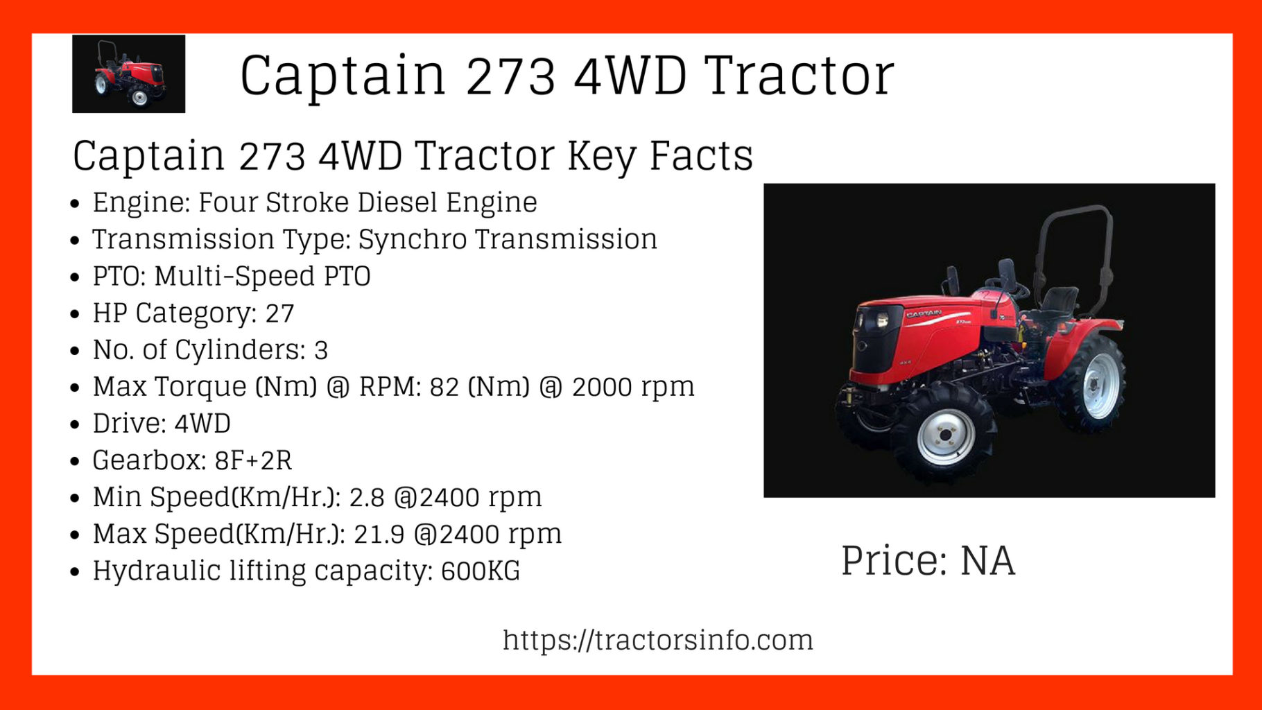Captain 273 4WD Tractor (2)