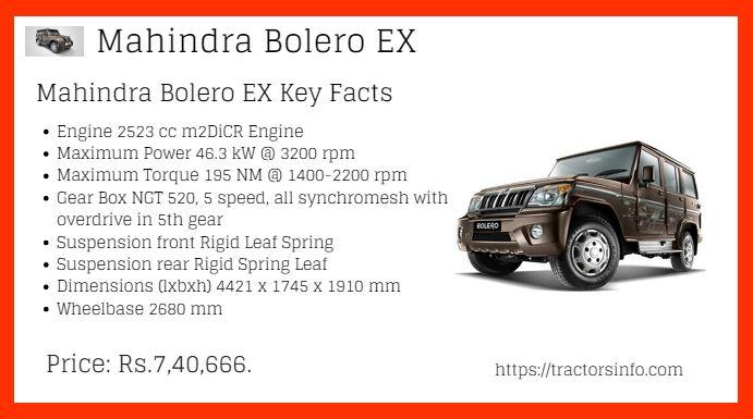 Mahindra bolero EX
