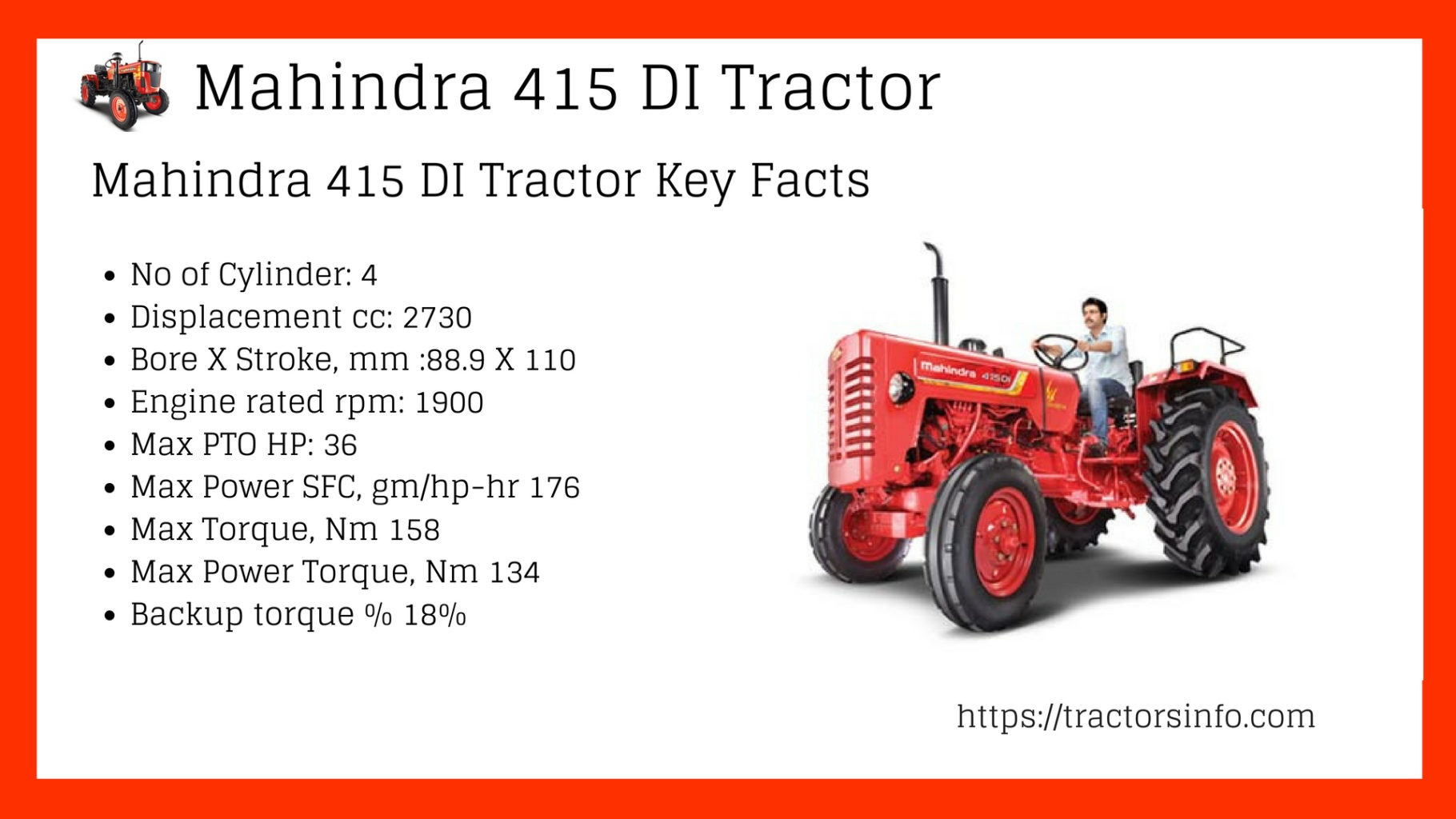 Mahindra 415 DI on road Price Specification and key Features