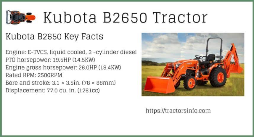 Kubota-B2650-Tractor-Price-specs