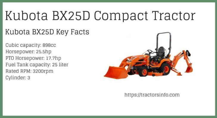 Kubota-BX25D-Tractor-price-specs