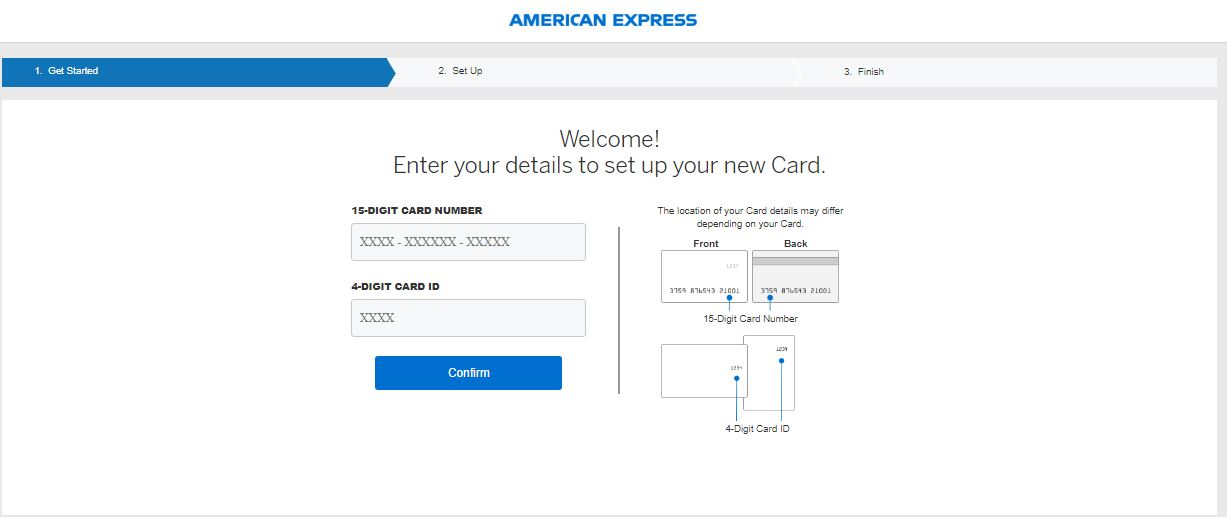 American Express Confirm Card Online