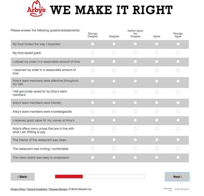 Arby's Survey