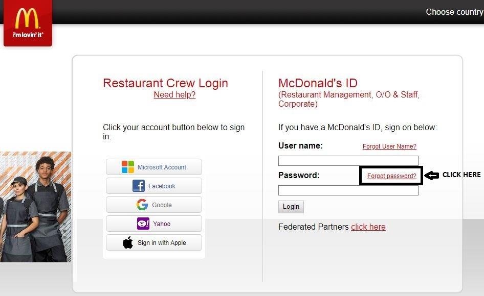 Forgot Accessmcd password