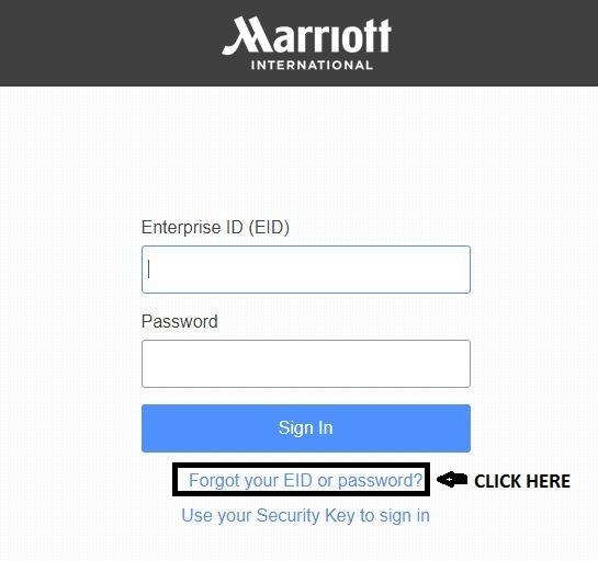 Forgot Marriott 4MyHR Enterprise ID 1