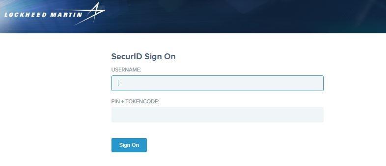 LMPeople Login using SecurID 2