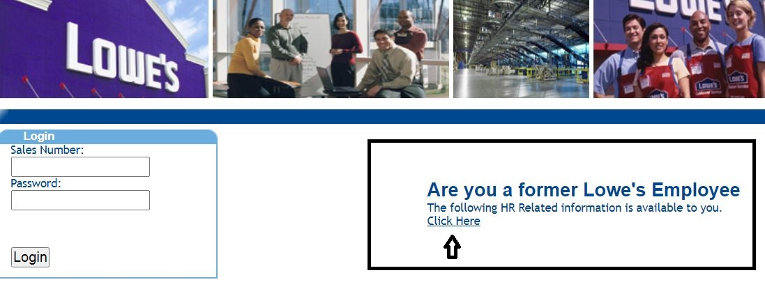 My Lowes Life login for Former Employees 1