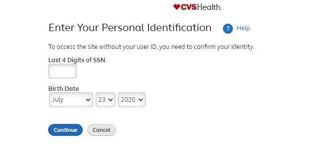 MyCVSHR login forgot password 2