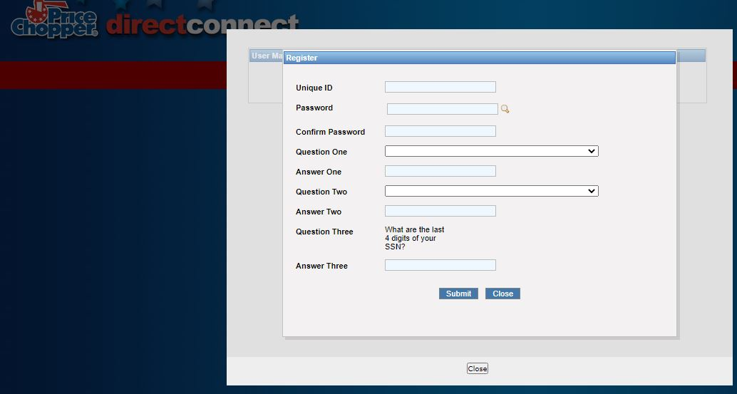 Price Chopper Direct Connect register 3