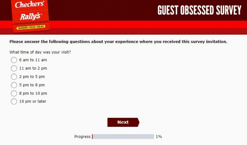 GuestObsessed Checkers & Rally's Survey