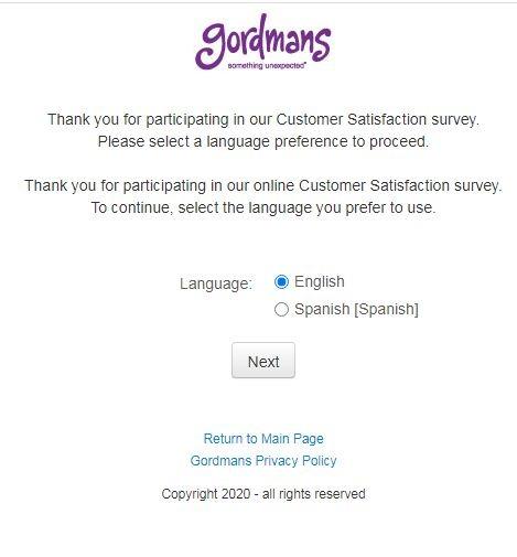 Survey.gordmans.com