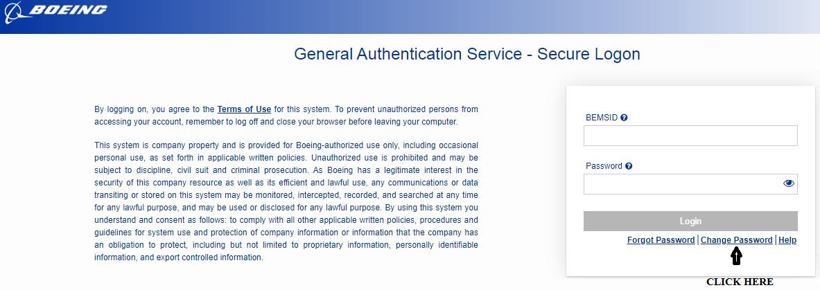 Change Boeing Total Access password 1