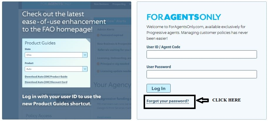 ForAgentsOnly login forgot password 1