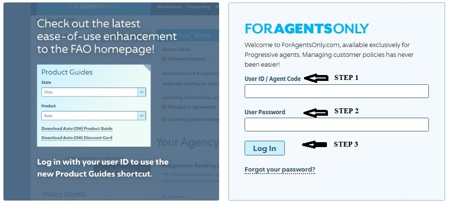 ForAgentsOnly login