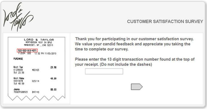 Lord & Taylor survey