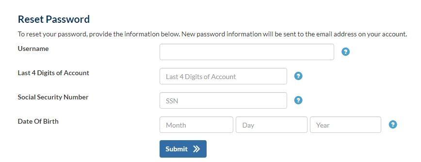 MyIndigoCard forgot password 1