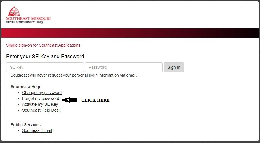 Semo Portal Login forgot password 1