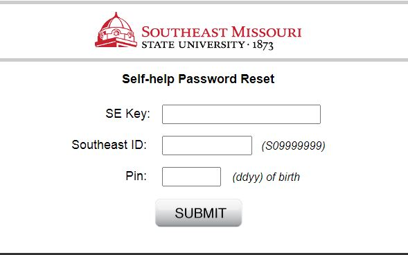 Semo Portal Login forgot password 2