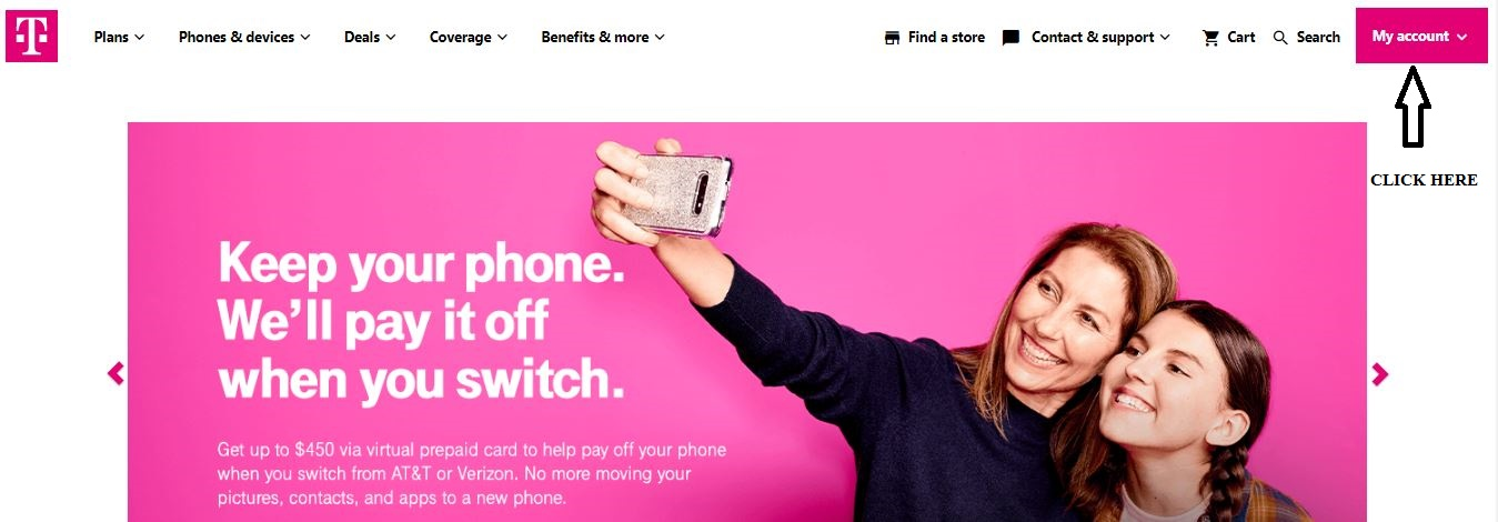 Sign Up for T-Mobile ID 1