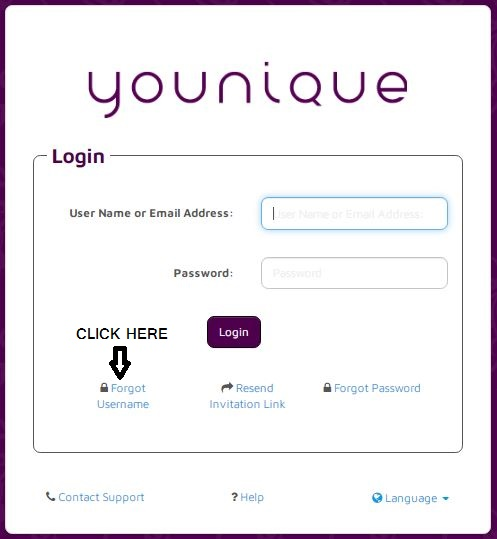 Younique Payquicker login forgot User Name 1