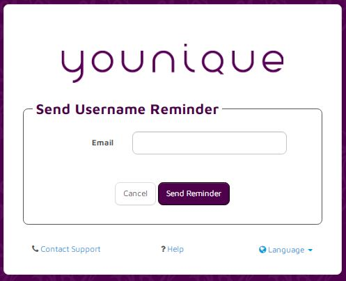 Younique Payquicker login forgot User Name 2