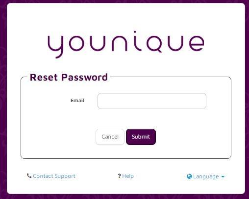 Younique Payquicker login forgot passwor