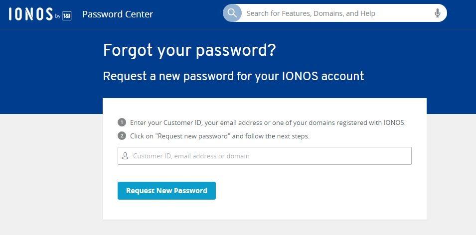 1and1 Webmail login forgot password 1