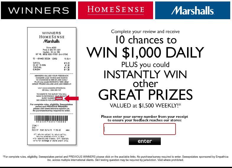 Winners HomesenseGuest Survey