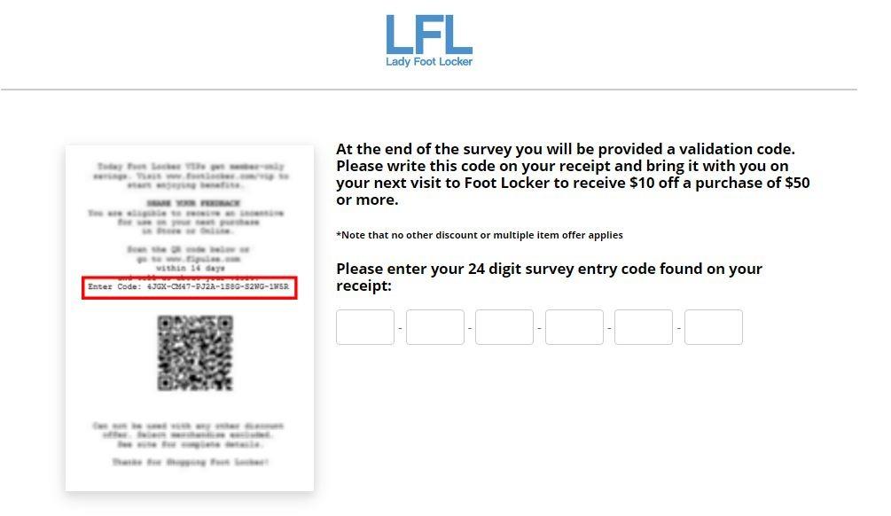 Lady Foot Locker Guest Survey