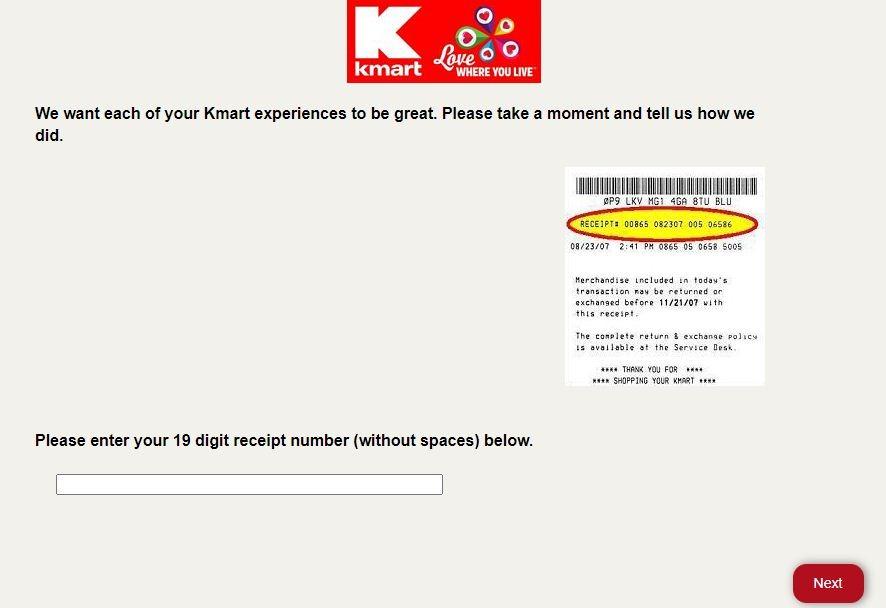 Kmart Guest Satisfaction Survey