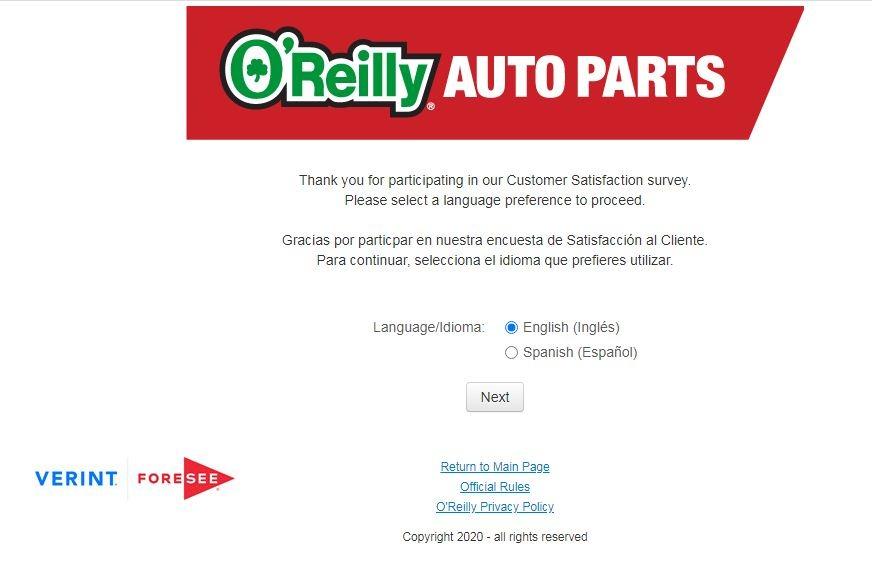 www.OReillyAuto.com/Feedback