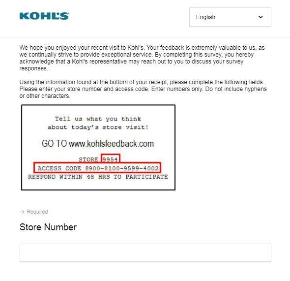 www.Kohlsfeedback.com