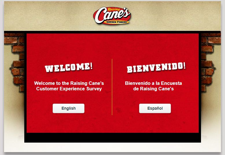 www.Raisingcanes.com/Survey