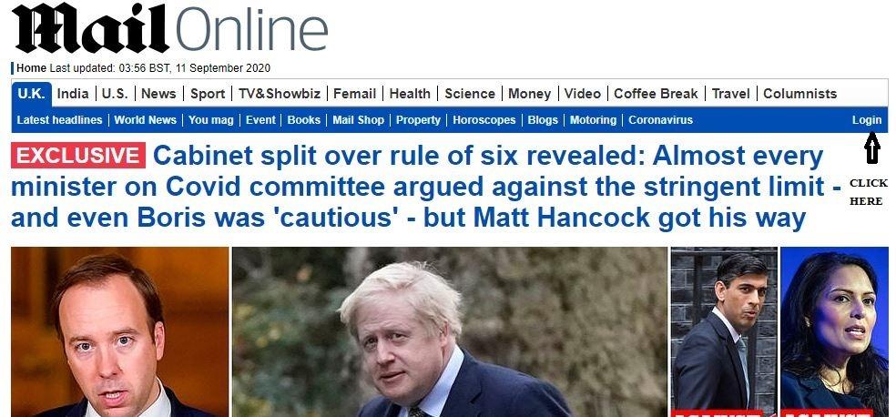Daily Mail Rewards Login 1