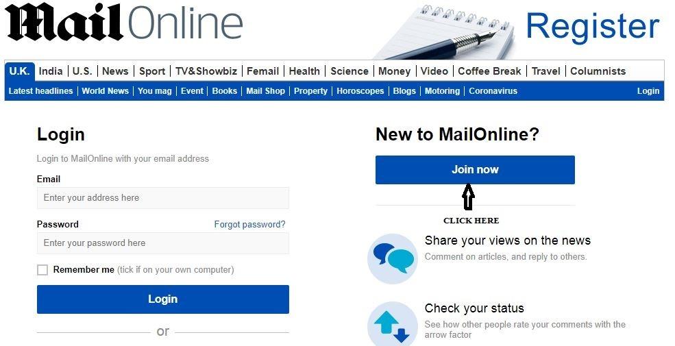 Mail Online Rewards Registration 1
