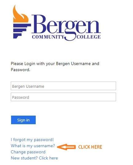 My Bergen forgot Username 1