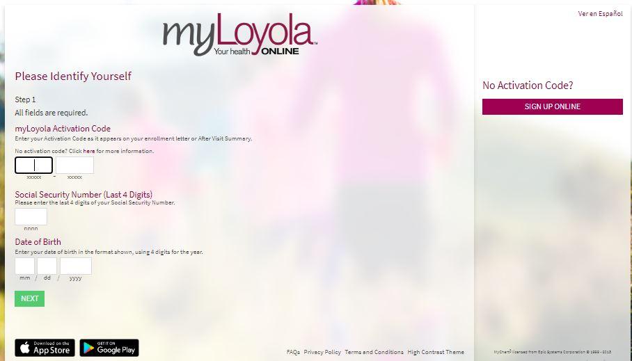 MyLoyola sign up