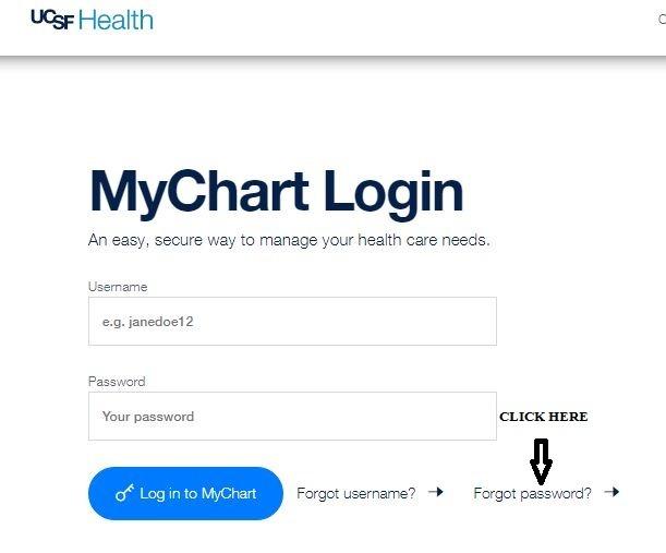 Mychart UCSF login forgot password 1