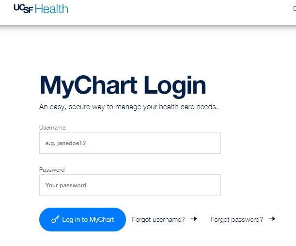 ucsf mychart login