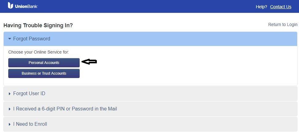 UBOC Login forgot password 3