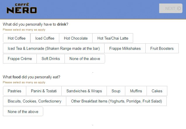 Caffe NeroGuest Survey