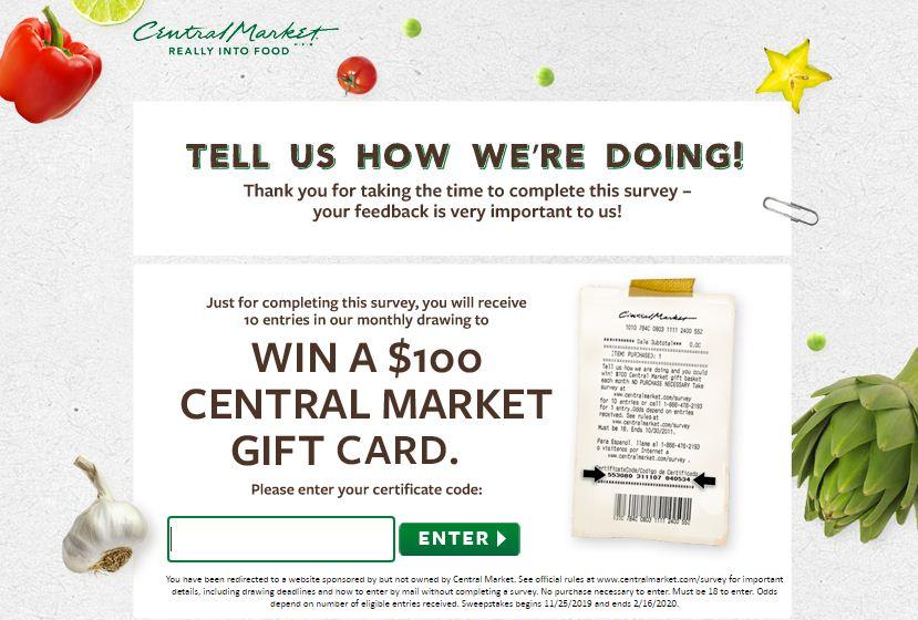 Central Market Guest Survey