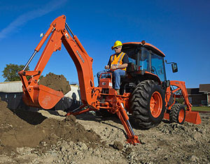 Kubota 5740 tractor backhoe