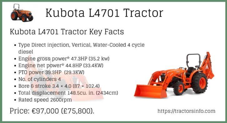 Kubota-L4701-Tractor price specs