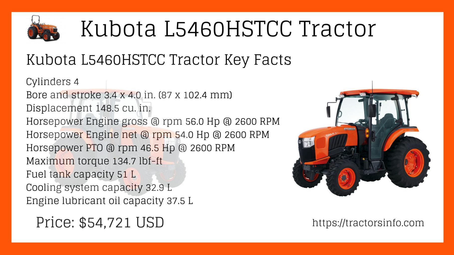 Kubota L5460HSTCC Tractor
