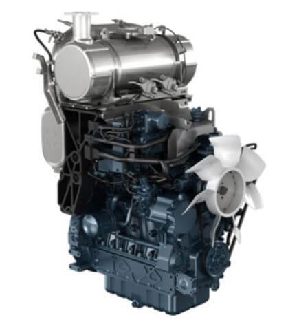 Kubota-M-narrow-series-tractor-engine